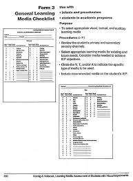 Form 3 General Learning Media Checklist Paths To Literacy