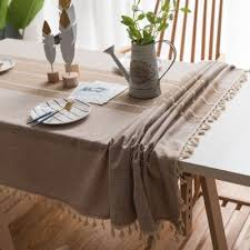 ins wind style cotton and linen small fresh tablecloth literary round table coffee table dining table cloth rectangular tablecloth