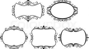 black vintage frame design. Appealing Set Of Vintage Frames Isolated On White Stock Vector Colourbox Black And Picture Frame Design .