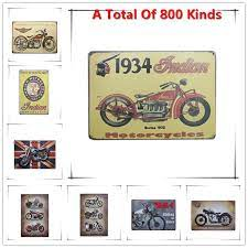Shop from wide range of wall decor item like mirror, metal wall art more for bedroom office decor products at kraphy. Chic Home Bar 1934 Indian Moto Vintage Metal Signs Home Decor Vintage Tin Signs Pub Vintage Decorative Plates Metal Wall Art Art And Craft Set Plateplate Book Aliexpress