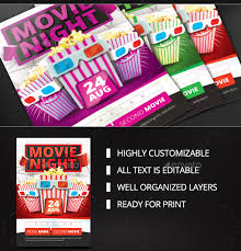 Free Movie Night Flyer Templates 20 Movie Night Flyer Templates Ai Psd Word Free