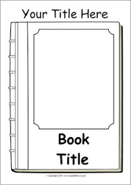 editable book cover templates black and white sb10422 sparklebox