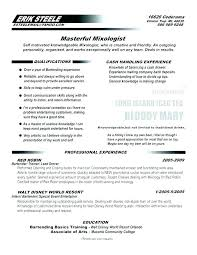 Example Bartender Resume Delectable Bartending Resume Sample Sample Bartender Resume Objectives Jesse