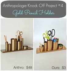 anthropologie inspired gold pencil holder desk organizer view from the fridge