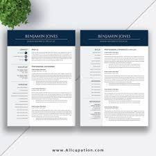 Professional And Modern Resume Template For Ms Office Word With
