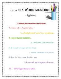 6 Word Memoir Samples