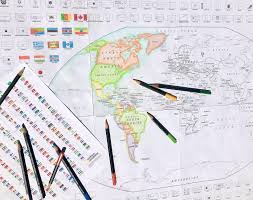 Free printable flags offers many different printable flags of the world. Download And Color A Free World Or United States Map With Flags