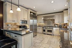 Granite Countertop Painting Kitchen Units Types Of Backsplashes