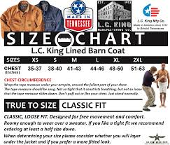 Susan Bristol Size Chart Lc King Made In Usa Denim Barn Coat Blue