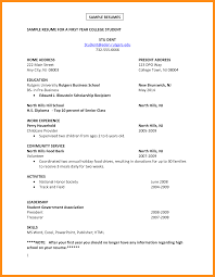 7 Sample Student Resume For College Azzurra Castle Grenada