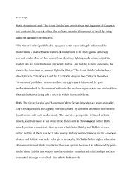 essays on great gatsby worksheets for great gatsby the great  gatsby and atonement