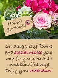 Sending Pretty Flowers - Happy Birthday Card   Birthday & Greeting Cards by  Davia