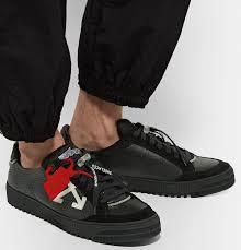 off white 3 0 polo suede trimmed leather sneakers