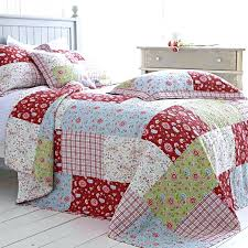 Patchwork Quilts Bedding – co-nnect.me & Blue Green Red Floral Patchwork Quilt Bedspread Cotton Pillowsham Cushion  Quilt Blue And And Blue Green Adamdwight.com