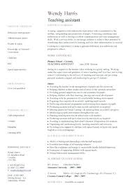 Best Of Resume Teacher Assistant Teaching Assistant Sample Teacher ...