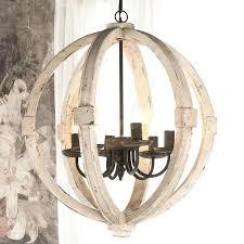 wine barrel chandelier wood and iron