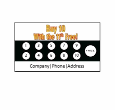 Discount Punch Card Yellow Gift Voucher Template Layout Business Flyer Design Polygon