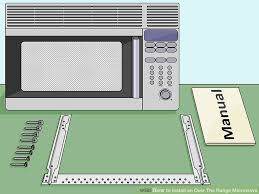 microwave oven installation.  Oven Image Titled Install An Over The Range Microwave Step 1 On Oven Installation E