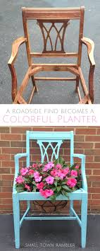 brightly painted furniture. A Brightly Painted Planter For Your Garden Furniture T