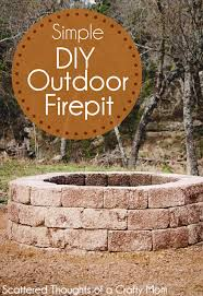 diy fireplace ideas simple diy outdoor firepit do it yourself firepit projects and fireplaces