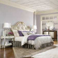 Silver And Purple Bedroom Mirrored Tufted Headboard This Fabulously Chic Bedroom Look