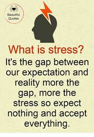 Beautiful Quotes What Is Stress It's The Gap Between Our Expectation Interesting Nice Quotes On Reality