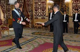 the king will receive letters of accreditation from six new ambadors on 8 january