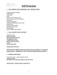 Fall Protection Plan Template Sample Scaffold Erector Fall Protection Plan DH Glabe Associates 1