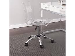 Image Overstock Northeast Factory Direct Everett Adjustable Height Acrylic Swivel Chair With Casters By Steve Silver At Northeast Factory Direct
