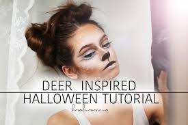 deer inspired makeup by karolina maria