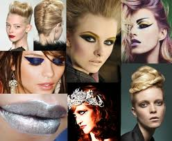 our makeup and hair are derived from early 80 s glamour advers