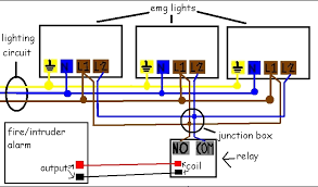 dazzling emergency light wiring diagram maintained fire detector emergency lighting wiring diagram with key switch at Emergency Lighting Wiring Diagram