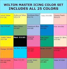 Wilton Food Coloring Chart Wilton Gel Food Coloring Color Chart Ofgodanddice Com