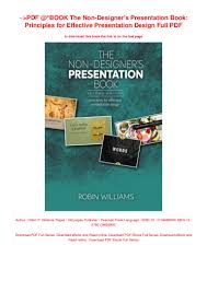 The Non Designer S Presentation Book Pdf Download Pdf Book The Non Designers Presentation Book Principles