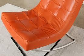burnt orange furniture. lc233 tufted lounge chair in burnt orange leather furniture