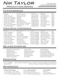 Acting Resume Beginner Film Resume Example Sample Resumes And Resume Examples Examples Of