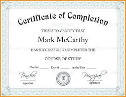 Scholarship Certificate Template For Word Sample Certificates For Completion Of Course Courses 40