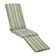 19 x 74 outdoor chaise lounge cushion in sunbrella cilantro stripe
