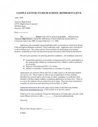Example Of A Cover Letter For Student Examples High School