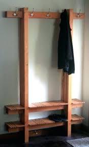 Coat Rack Cabinet Impressive Shoe Storage Bench With Coat Hanger Coat Racks Coat Rack With Shoe