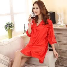 plus size silk robe style of shirt fashion silk pajamas with plus size for ladies