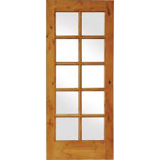 Krosswood Doors 30 in. x 96 in. Rustic Knotty Alder 2-Panel Square ...
