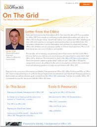 On The Grid The Official Office 365 Newsletter For It