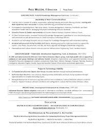 Director Of It Resume It Infrastructure Resume It Infrastructure