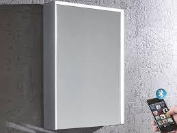 Mirror Design Ideas Tune Illuminated Bluetooth Mirror Bathroom