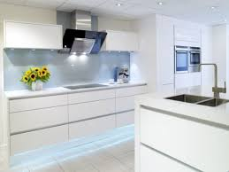 Modern White Gloss Kitchen Cabinets With Inspirations Picture