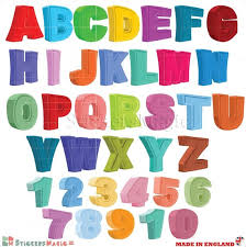 3d alphabet abc wall stickers numbers