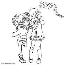 Bff Coloring Pages Girls Free Printable Coloring Pages