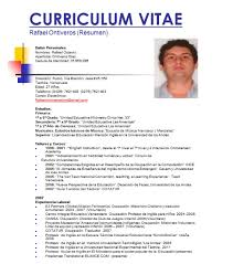 Formato Curriculum Vitae Estados Unidos - Online Assignment Writing ...
