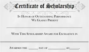 Scholarship Certificate Template For Word Scholarship Award Certificate Template Free 7 Scholarship